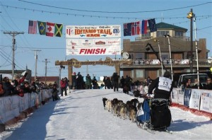 Iditarod finish line