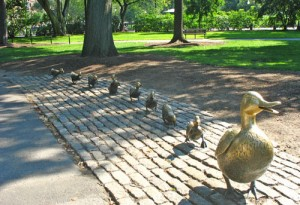 Make Way for Ducklings Statue