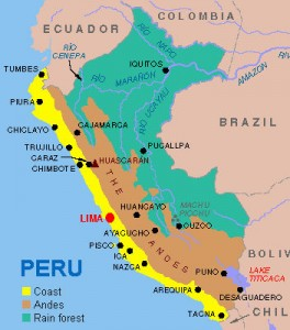 This map of Peru shows just how remote Iquitos in, located in the northeastern part of the country.