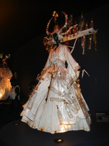 One of many unique dresses on display in the WOW Museum