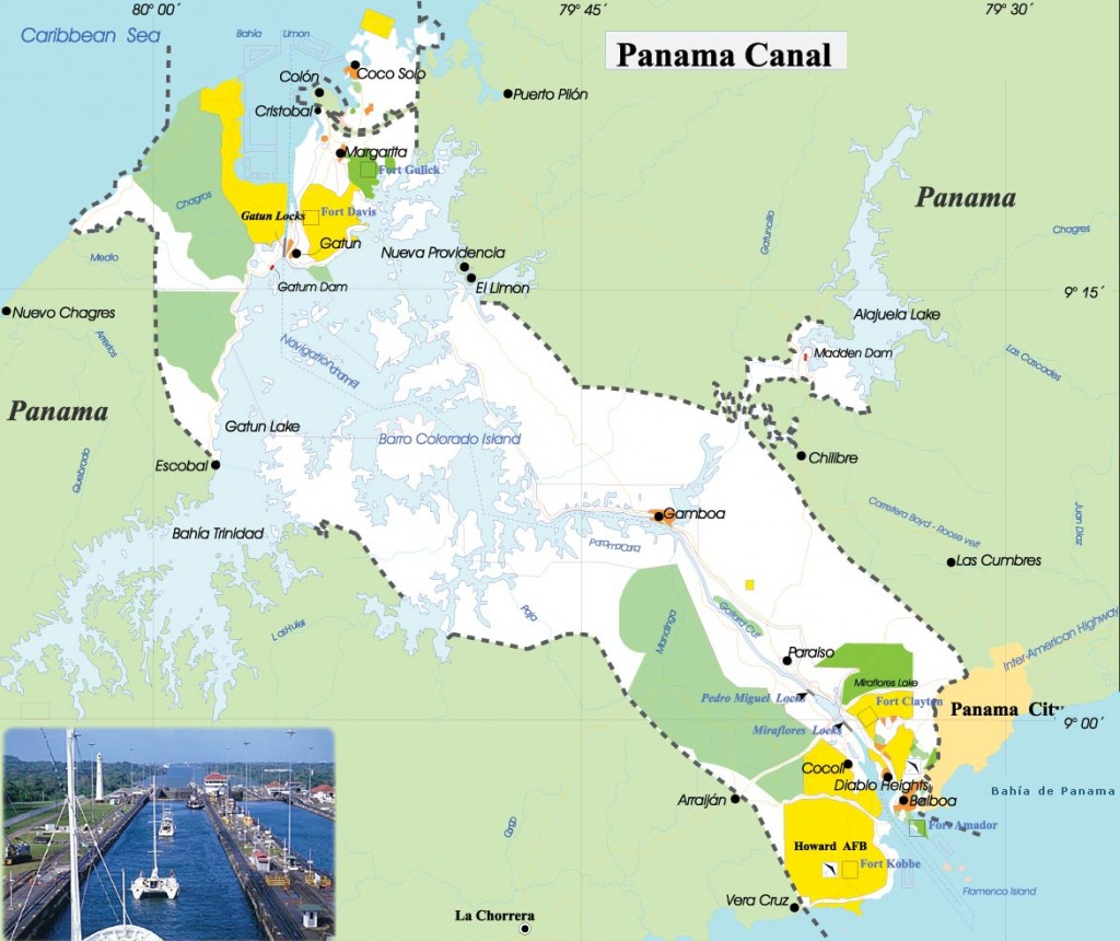 geographicguide com panama canal map